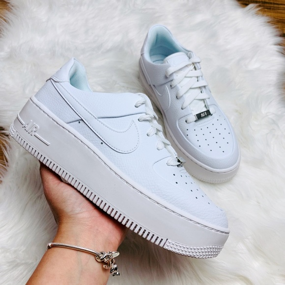 New Nike Air Force Sage Low White